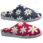 LADIES WINTER WARM FUR SOFT INDOOR BALLERINA MOCCASIN SLIPPERS SHOES MULES SIZE