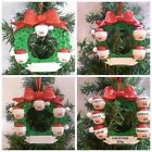 """PERSONALISED CHRISTMAS TREE DECORATION """"BUTTON WREATH"""" 3,4,5,6 NAMES + GIFT BAG"""