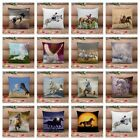 Collection Horse Pillow Case Throw Cushion Cover Animal Home Sofa Car Decor 17""