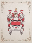 Find Your Name Here - Family Coat of Arms Crest Prints - English Origin