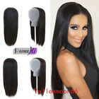 "HOT16""-28"" Fashion Machine weft cap Indian Remy Human Hair Glueless 3/4 Half Wig"