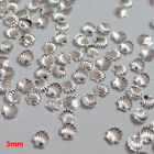 Nail Art Accessories - Beauty 50Pcs Metal Shell Beads Nail Art Tips DIY Decoration 3mm 5mm Braw