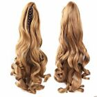 "15""-30"" 100% Real Human Hair Body Wave Claw Clip High Ponytail Extensions"