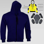 Men's Motorcycle Hoodie Protective Wears CE Approved Armour Protector Size S-6XL