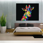Modern Oil Painting Watercolor Giraffe Abstract Unframed Huge Wall Decor