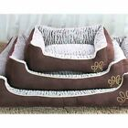 House Bed Dog Cat Pet Print Puppy Kennel S Soft Mat Indoor Portable Princess New