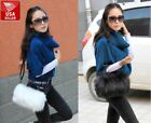 Faux Fur Furry Women Purse Crossbody Shoulder Bag Tote Cute W/ Strap And Handles