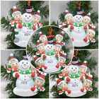 """PERSONALISED XMAS TREE DECORATION """"BUILDING SNOWMAN""""  FROM 2- 6 NAMES + GIFT BAG"""