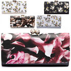 Floral Flower Trifold Ladies Wallet Patent Women Girl Matinee Purse Bobble Clasp