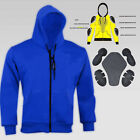 Men's  Motorbike Motorcycle Hoodie with Protective Dark Blue Jacket New