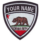 CALIFORNIA CUSTOM CREST EMBROIDERED PATCH