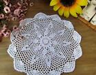 Craft Handmade Crochet Lace Vintage Style Round Cottage Style Table Cloth