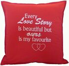 Wedding Anniversary Engagement Birthday Christmas gift 'OUR LOVE STORY' Cushion