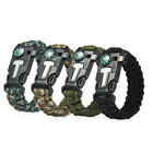 Outdoor Survival Gear Escape Paracord Bracelet Flint Whistle Compass Scraper