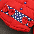 Kids Toddler Girls Padded Coat Hooded Fleece Winter Warm Jacket Snowsuit Parkas