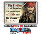 Pirates of the Caribbean #1 - Fridge Magnet or Keyring - Johnny Depp