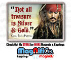 Pirates of the Caribbean #3 - Fridge Magnet or Keyring - Johnny Depp