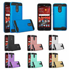 ZTE Blade Spark Z9171, ZTE Grand X4 Slim Dual Layer Metallic Brush Case Cover