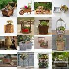 Assorted Wooden Pot Flower Succulents Planter Garden Grow Bed Outdoor Decor