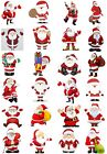 24 Mixed Santa Christmas Large Sticky White Paper Stickers Labels NEW