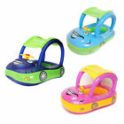 Portable Baby Swimming Ring Baby Float Seat Boat Tube Ring Car Sun Shade Toy