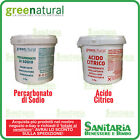 GREENATURAL PERCARBONATO DI SODIO O ACIDO CITRICO ANIDRO 2KG BOX