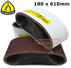 100 x 610mm KLINGSPOR Sanding Belts / Sandpaper 4&#039;&#039; x 24&#039;&#039; Electric Belt Sander  <br/> Grits Available : 24 40 60 80 100 120 150
