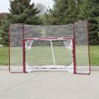 EZ Goal Steel Folding Hockey Goal with Backstop & Targets