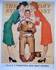 """VTG Norman Rockwell Art Print WWII Saturday Evening Post 11"""" x 15"""" SEE VARIETY"""