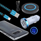 QI Wireless Car Charger Cable Transparent Case for Samsung Galaxy S8 Plus Note 8