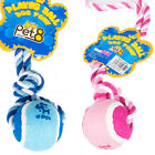 Pet Dog Playing Chasing Fun Training Tennis Ball Non-Toxic Healthy Toy with Rope