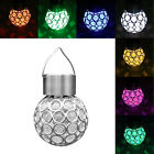 Solar Ball Garden Hang Outdoor Landscape Color Change LED Lamp Walkway Lights