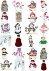65 Mixed Snow Lady Small Sticky White Paper Stickers Labels NEW