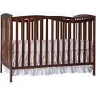 5-in-1 Convertible Crib  Stationary Sides Toddler DayBed Full Nursery Furniture