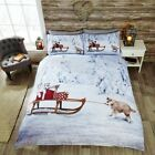 Rapport Multi Huskies On Sledge Christmas Duvet Set S/D/K