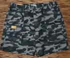 SAVANE MENS COOL COTTON GREEN CAMO ELASTIC WAIST HIKING/CARGO SHORTS LIST $54