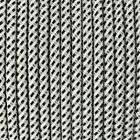 Modern Fabric Braided Cable / Flex In White Black Dot Pattern - 2 Or 3 Core