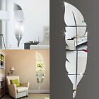 Removable 3D DIY  Feather Mirror Wall Stickers Decal Art Vinyl Home Room Deco HS