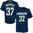 Eric Weddle San Diego Chargers Youth Navy Blue Mainliner Name & Number T-Shirt $11.99 USD