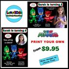 PJ MASKS PERSONALISED BIRTHDAY PARTY INVITATIONS - PARTY ITEMS - PRINT YOUR OWN