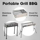 Portable Charcoal Barbeque BBQ Grill Outdoor Camping Picnic Stainless Steel