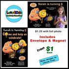 EMOJI PERSONALISED BIRTHDAY PARTY INVITATIONS - PARTY ITEMS - PRINT YOUR OWN