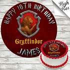 HARRY POTTER GRYFFINDOR EDIBLE BIRTHDAY CAKE TOPPER DECORATION PERSONALISED