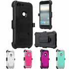 Google Pixel XL, Pixel, Rugged [Built-in Screen Protector] Holster Case Cover