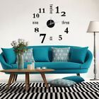 3D DIY Wall Clock Watch Modern English Letter Digital Home Decor Quiet Clock