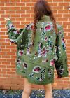 KHAKI PARKA CASUAL SEQUIN SLEEVE POCKET MILITARY STYLE PARKA COAT JACKET