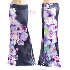 Watercolor Purple Floral Sublimation long maxi skirt (S/M/L/XL/1XL/2XL/3XL)