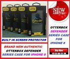 New Original OtterBox Defender Case for Apple Iphone 8 Built in Screen Protector