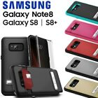 Zizo Hidden Wallet Back Case+Kickstand+Tempered Glass For Galaxy Note 8/S8/S8+