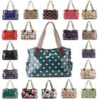 Polka Owl Skull Rose Oilcloth Shoulder Bag Canvas Strap Women Handbag Tote